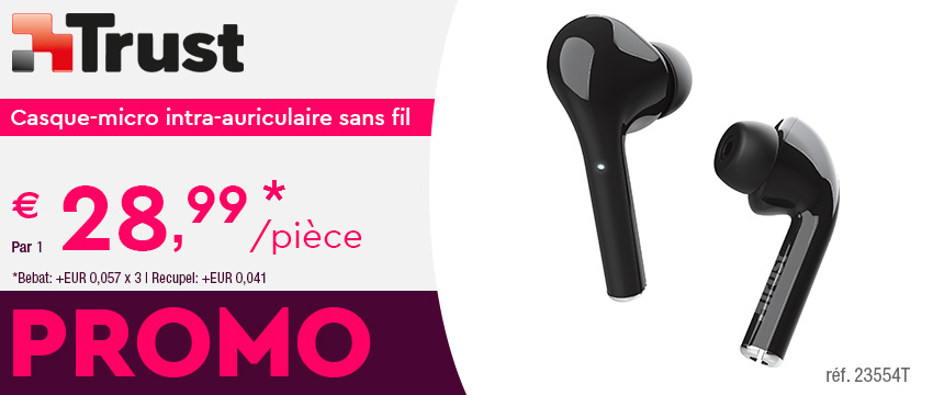 Trust Casque-micro intra-auriculaire sans fil Nika Touch