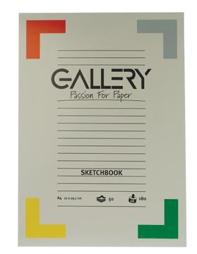 Gallery bloc de croquis, ft 21 x 29,7 cm (A4)