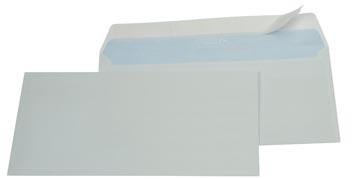 Gallery enveloppes, ft 114 x 229 mm, bande adhésive, boîte de 500 pièces