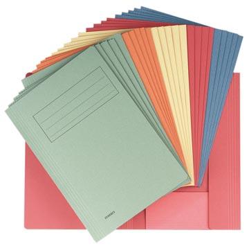 Class'ex chemise de classement, couleurs assorties (rouge, bleu, vert, orange et chamois)