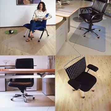 Floortex tapis de sol Cleartex Ultimat, pour les surfaces dures, rectangulaire, ft 120 x 134 cm