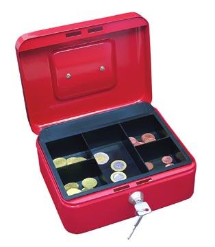 Wedo coffret à monnaie, ft 20 x 16 x 9 cm, rouge