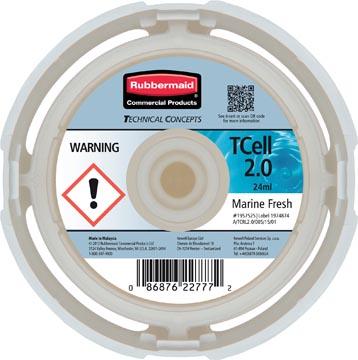 Rubbermaid recharge pour distributeur de désodorisant TCELL 2.0, Marine