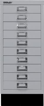 Bisley armoire à tiroirs, ft 67 x 27,9 x 40,8 (h x l x p), 10 tiroirs, gris clair
