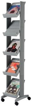 Paperflow Présentoir mobile Corner Compact argent