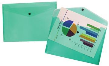 Beautone pochette documents, A4, vert transparent