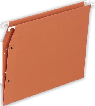 Pergamy dossiers suspendus ft A4, fond en V, orange