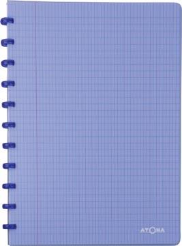 Atoma cahier Trendy ft A4, quadrillé commercial, bleu transparent