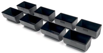 Safescan plateaux de pièces de monnaie pour la série 4141, noir, set de 8 pièces