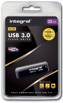 Integral clé USB 3.0, 32 Go, noir