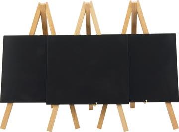 Securit ardoise Mini, ft 24 x 15 cm, hêtre laqué, paquet de 3