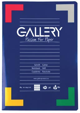Gallery cahier de coupe, ft A4 72 pages, quadrillé 5 mm