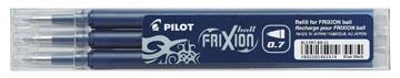 Pilot recharge pour Frixion Ball et Frixion Ball Clicker, pointe moyenne, noir-bleu, étui de 3 pièces