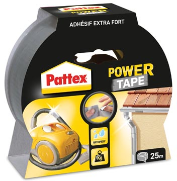 Pattex ruban adhésif Power Tape, 25 m, gris