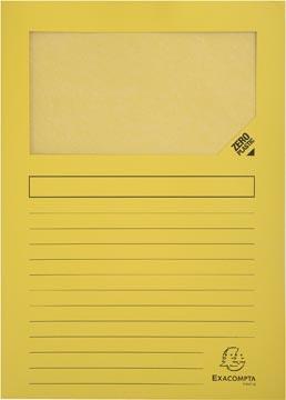 Exacompta pochette coin à fenêtre Forever, paquet de 100 pièces, jaune