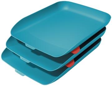 Leitz Cosy bac à courrier, bleu, set de 3 pièces