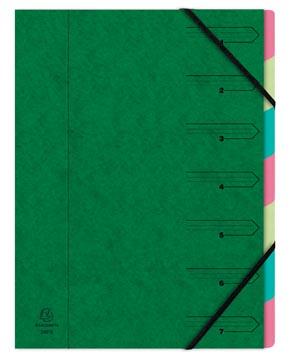 Exacompte Trieur-classeur 7 compartiments, vert
