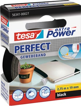 Tesa extra Power Perfect, ft 19 mm x 2,75 m, noir