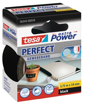 Tesa extra Power Perfect, ft 38 mm x 2,75 m, noir