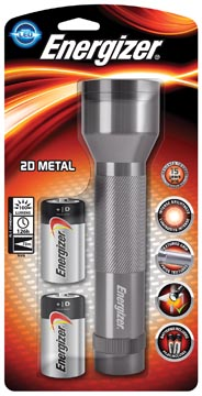 Energizer Metal LED torch + 2D sous blister