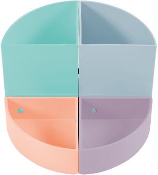 Exacompta Pot à crayons modulair The Quarter, en couleurs pastel