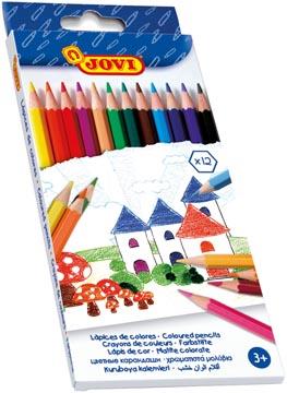 Jovi crayon de couleur 12 crayons