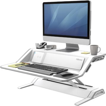 Fellowes Lotus DX plate-forme de travail assis-debout, blanc
