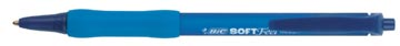 Bic stylo bille Soft Feel Clic Grip, bleu