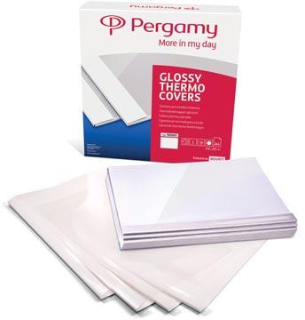 Pergamy couvertures thermiques ft A4, 9 mm, paquet de 100 pièces, blanc