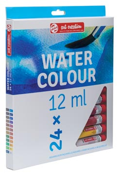 Talens Art Creation aquarelle tube de 12 ml, set de 24 tubes en couleurs assorties