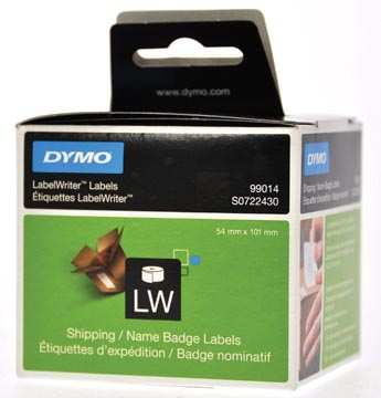 Dymo étiquettes LabelWriter, ft 101 x 54 mm, blanc, 220 étiquettes