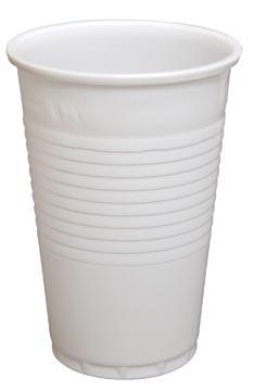 Gobelet en PP, 200 ml, blanc, paquet de 100 pièces
