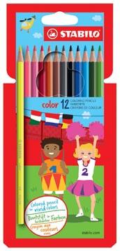 STABILO crayon de couleur Color, étui cartonné de 12 pièces