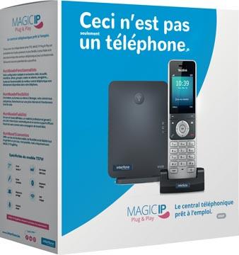 Magic IP Plug & Play by Interfone W60P, central téléphonique prêt à l'emploi
