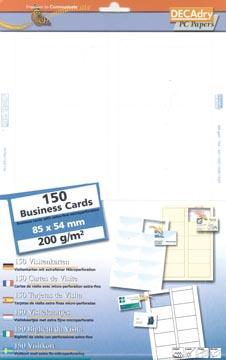 Decadry cartes de visite MicroLine ft 85 x 54 mm, 200 g/m², 150 cartes
