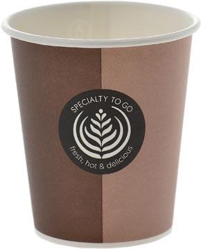 Gobelet Coffee To Go, en carton, 200 ml, diamètre 80 mm, paquet de 80 pièces
