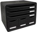 Exacompta bloc à tiroirs Storebox Maxi, noir