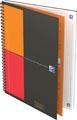 Oxford INTERNATIONAL cahier spiralé connect, couverture en carton gris, ft B5, quadrillé 5mm, 160 pages