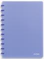 Atoma cahier Trendy ft A4, quadrillé 5 mm, bleu transparent