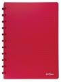 Atoma cahier Trendy ft A4, quadrillé commercial, rouge transparent