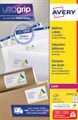 Avery L7163, Etiquettes adresses, Laser, Ultragrip, blanches, 250 pages, 14 per page, 99,1 x 38,1 mm