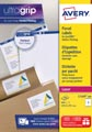 Avery L7169, Etiquettes d'expédition, Laser, Ultragrip, blanches, 100 pages, 4 per page, 99,1 x 139 mm